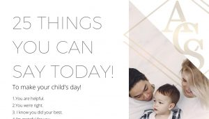 25 Things to say to your kids today