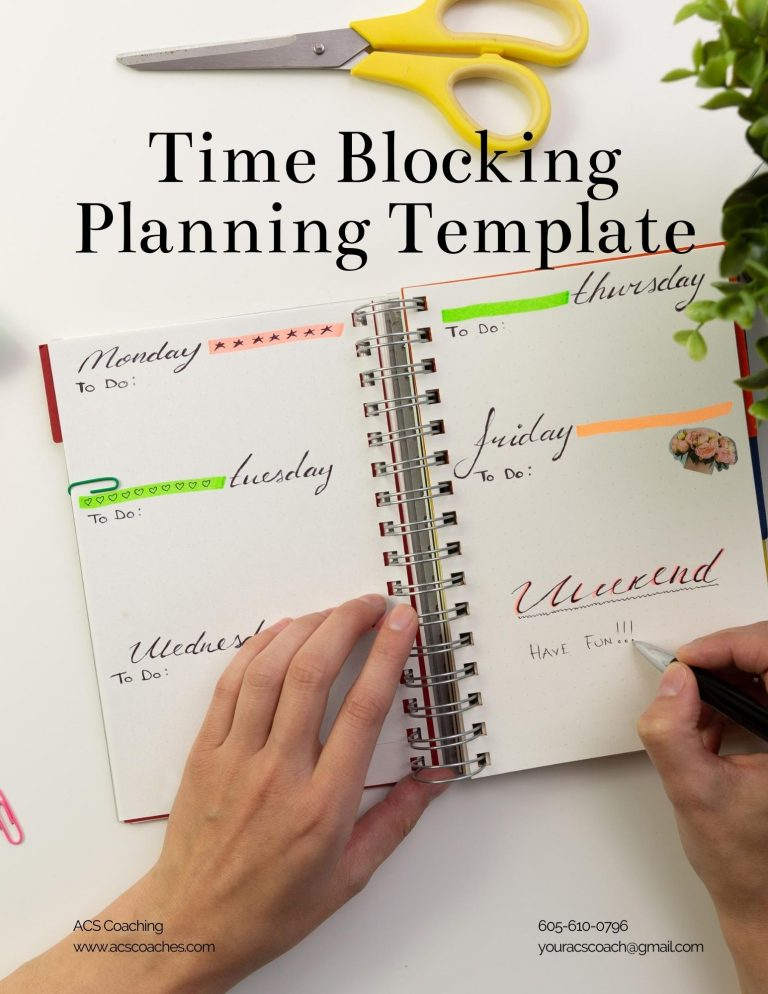 Person writing in a planner